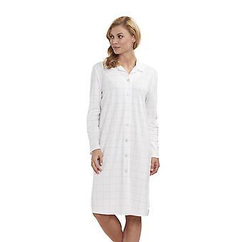 Grande classe Plaid coton sommeil Shirt chemise de nuit chemise de nuit FERAUD 3883159 féminin