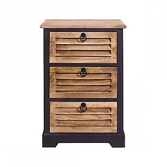 Rebecca Furniture Kitchen nightstands bathroom 3 drawers wooden Urban Vintage Retro room Cooking Furniture