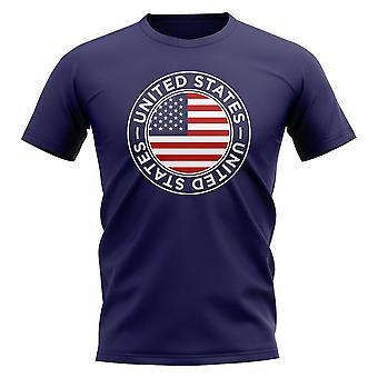 Camiseta estadounidense de insignia de fútbol (Navy)