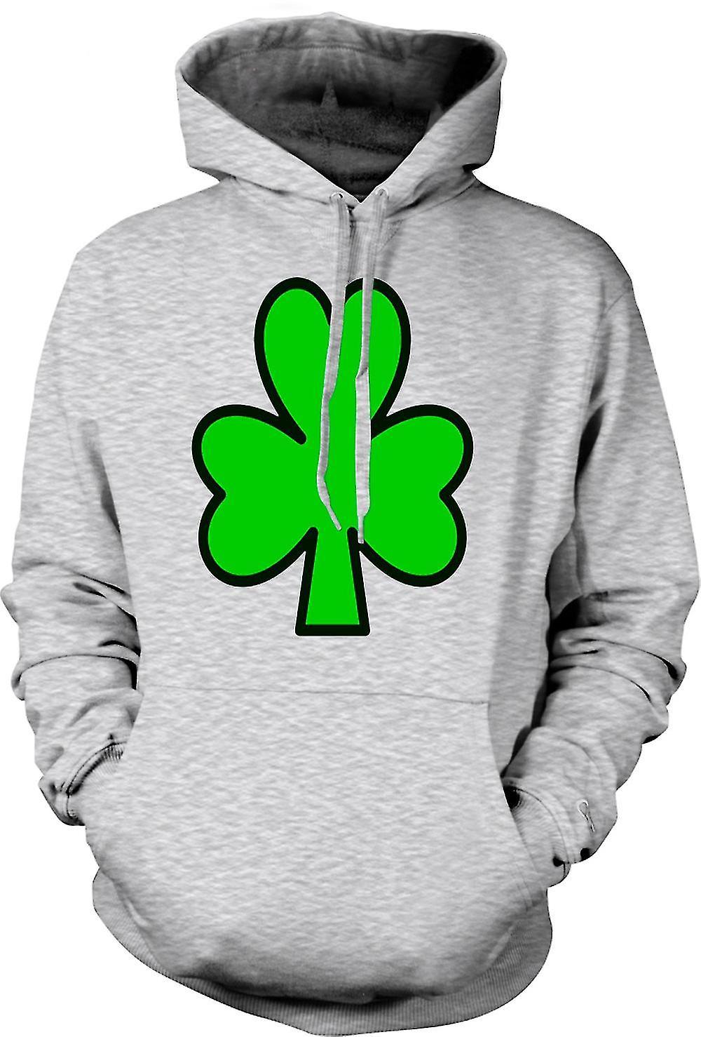 Mens Hoodie - trèfle irlandais - Funny