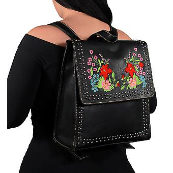 Montana West Embroidered Collection Floral Backpack Purse