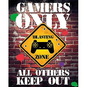 Spieler nur Controller halten sich Mini Poster 40x50cm