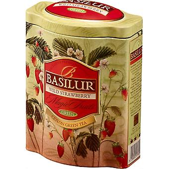 Green Tea With Wild Strawberry Loose Tea In Tin Caddy 100g