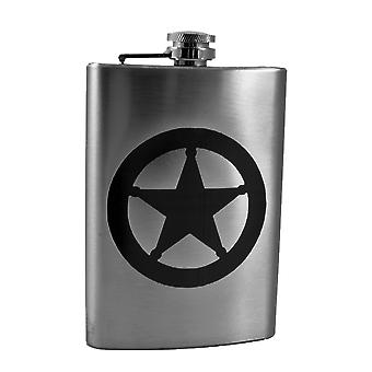 8oz badge flask l1