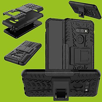 Für LG G8 ThinQ Hybrid Case 2teilig Outdoor Schwarz Tasche Hülle Cover Schutz