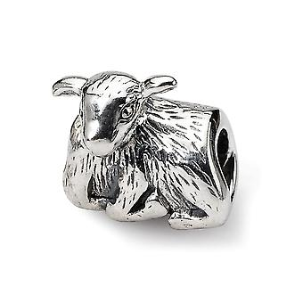 925 Sterling Argent Poli Antique finition Reflections SimStars Lamb Bead Charm