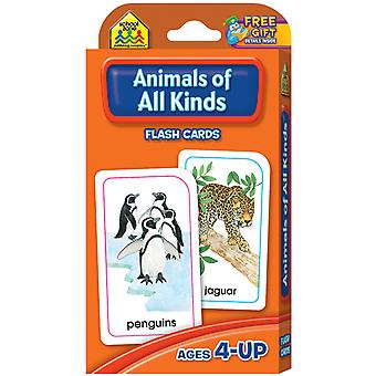 Flash Cards Animals Of All Kinds 54 Pkg Szflc 4012
