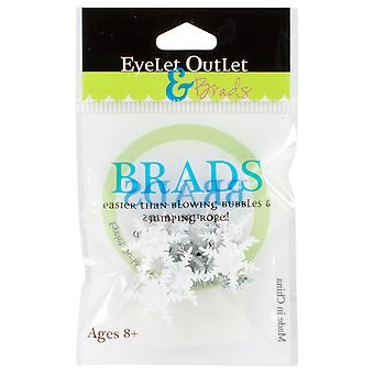 Eyelet Outlet Shape Brads Snowflake Qbrd 15