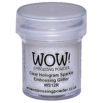 Wow! Embossing Powder 15Ml Clear Hologram Sparkle Wow Ws12r