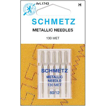 Metallic Machine Needles Size 12 80 5 Pkg 1743
