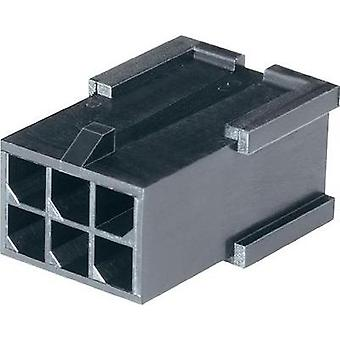Pin enclosure - cable Micro-MATE-N-LOK Total number of pins 10 TE Connectivity 1-794616-0 Contact spacing: 3 mm 1 pc(s)