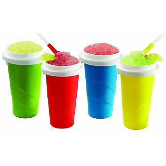 Slush Maker Cup Assorted Colour Slushey Chill Factor Squeeze Iced Drink