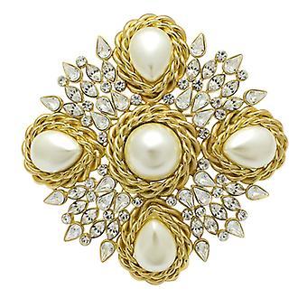 Butler & Wilson Vintage 5 Faux perle & Crystal franske ser broche