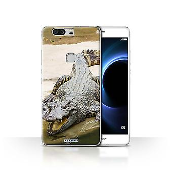 STUFF4 Case/Cover for Huawei Honor V8/Crocodile/Wildlife Animals