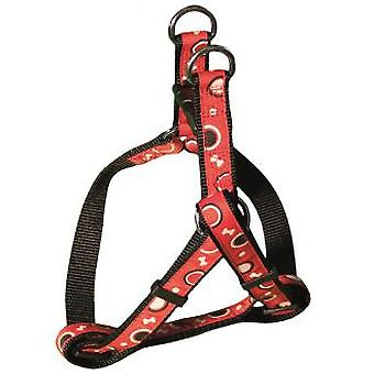 Arquivet Red Nylon Harness Bones (Dogs , Walking Accessories , Harnesses)