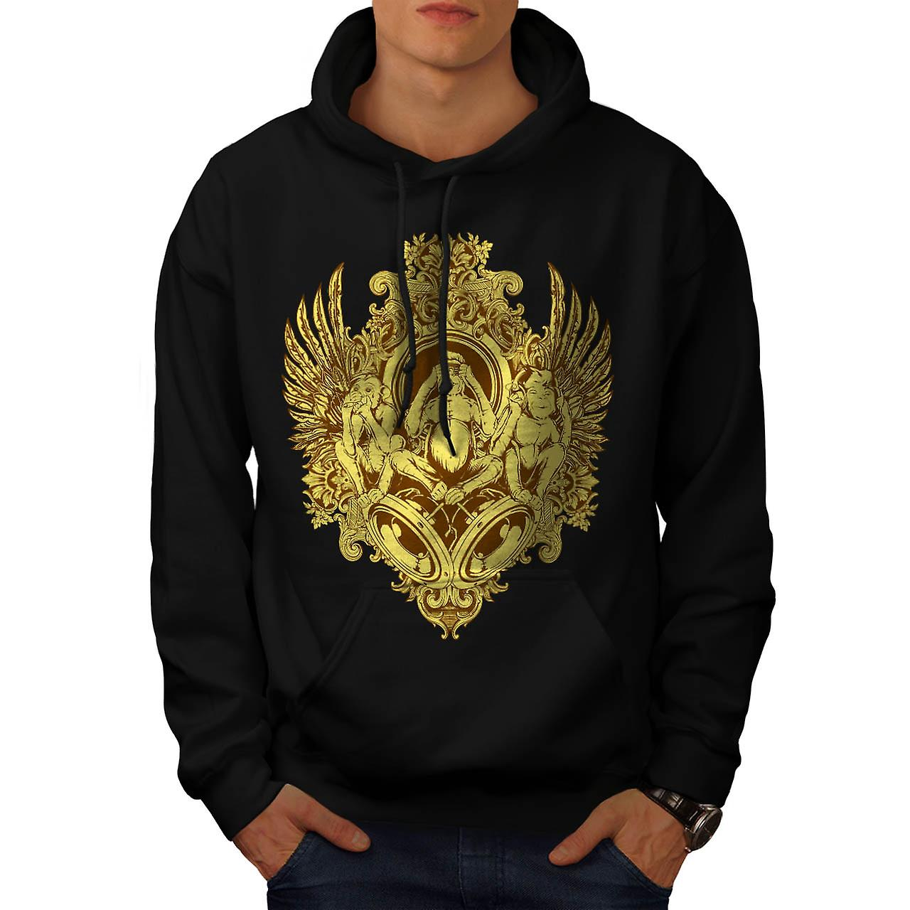 Evil Monkey Thrones 3 Wise Chimp Men Black Hoodie | Wellcoda