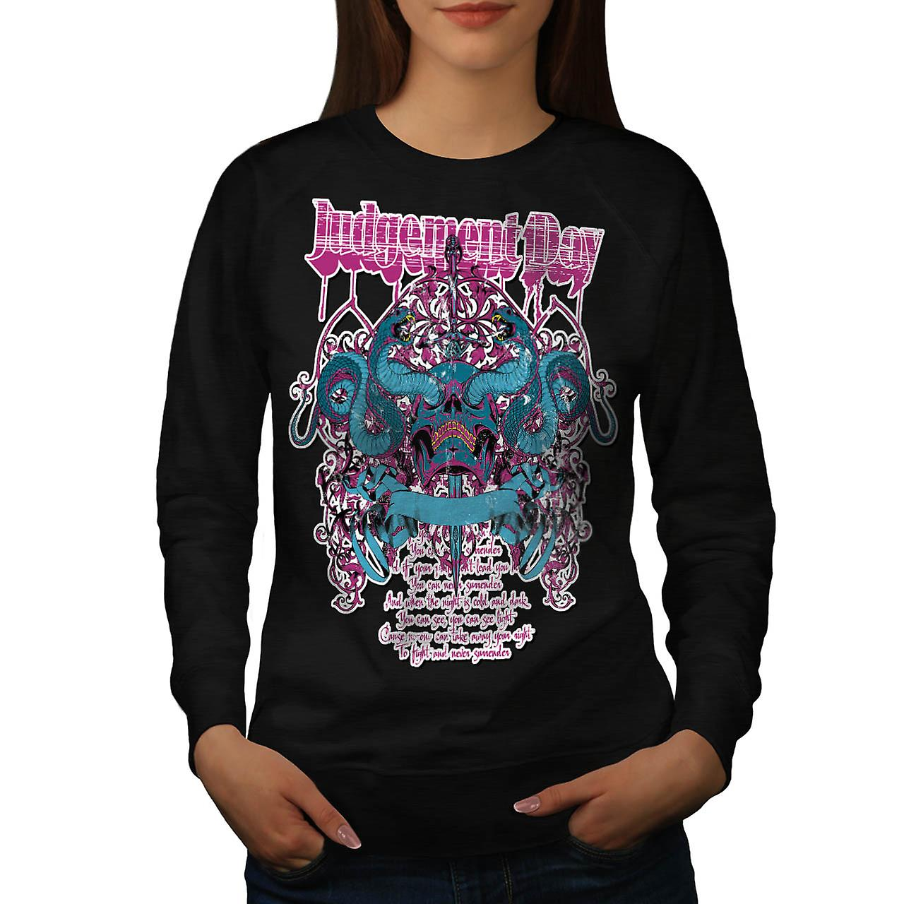 Judgement Day Dead Horror Women Black Sweatshirt | Wellcoda