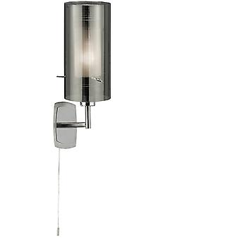 Searchlight 2300-1SM Duo 2 Single Wall Light with Cylinder Shade