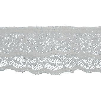 2 Tiered Ruffled Lace Trim 2-1/8