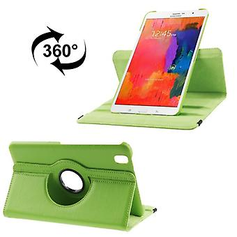 PU cover tray ash (flip cross) for Samsung Galaxy tab Pro 8.4 / T320 Green