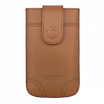 Bugatti SlimCase Dublin Universal Leather Case 7,3x12,2 cm Size M brown