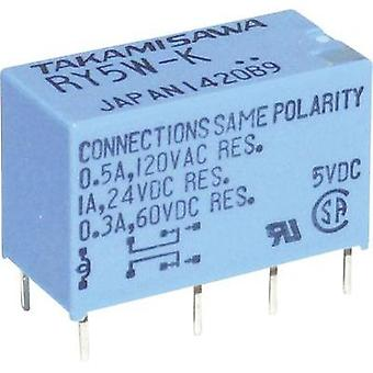 PCB relays 12 Vdc 1 A 2 change-overs Takamisawa RY