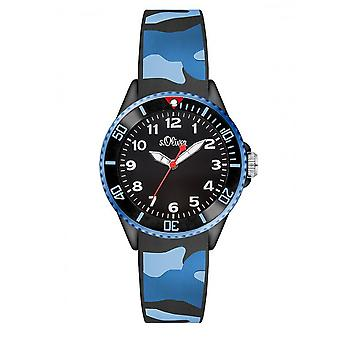 s.Oliver silicone band watch kids SO-3109-PQ