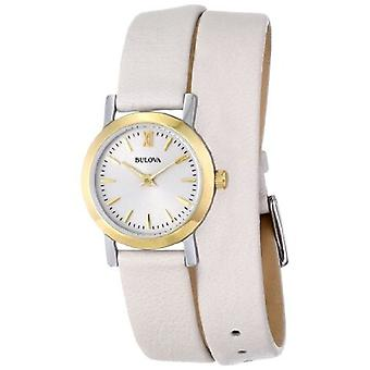 Bulova Women's 98L193 Analog Display Japanese Quartz Beige Watch
