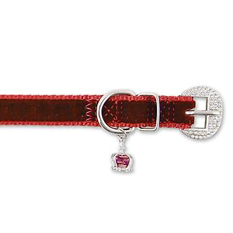 Small Bite Crown Jewel Collar Ruby Extra Small 18-22cm