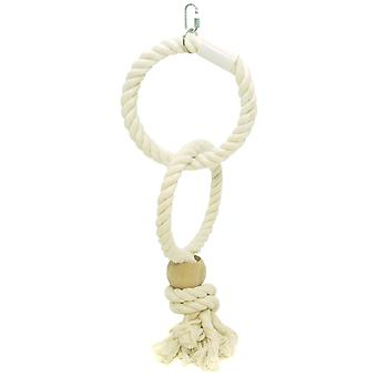 Parrot Twin Rope Rings Lge