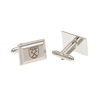 West Ham United Silver Plated Cufflinks