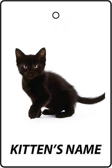 Personalised Black Kitten Car Air Freshener