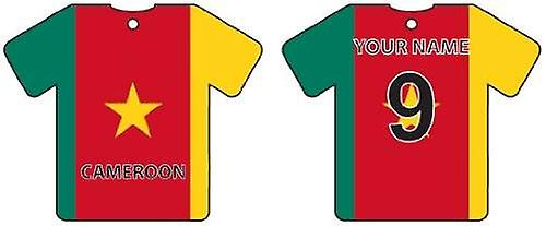 Personalised Cameroon Flag Jersey Car Air Freshener