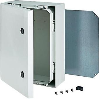 Wall-mount enclosure, Build-in casing 400 x 300 x 150 Polycarbonate (PC) Grey Fibox 8120006 1 pc(s)