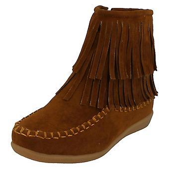 Mädchen-Spot auf flache Ankle Boots H5062