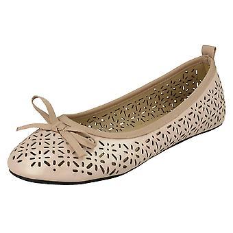 Girls Spot On Flat Ballerina Style Shoes H2375