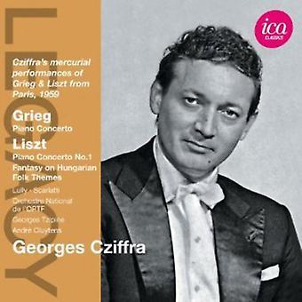 Grieg/Liszt - Grieg: Klaverkoncert: Liszt: klaverkoncert No. 1; Osv [CD] USA importerer