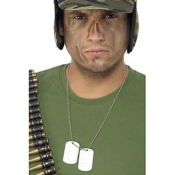 Dog tag necklace pendant to the Rambo soldier costume
