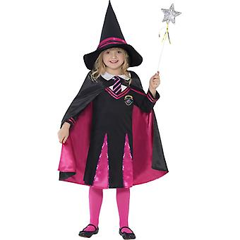 Costume witch schoolgirl with sweater skirt hat and cloak women size S
