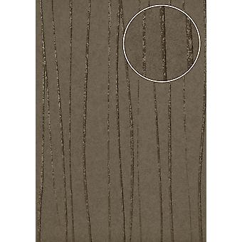 Stripes Atlas COL-566-5 non-woven wallpaper smooth design shimmering brown beige grey bronze 5.33 m2