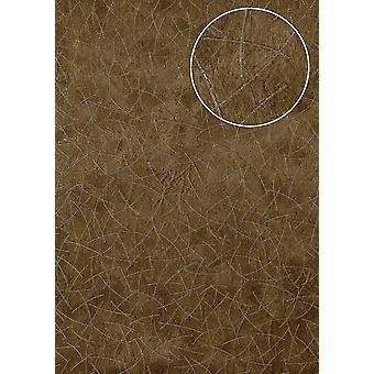In coat patterns, graphic wallpaper Atlas STI-5106-5 non-woven wallpaper marked m2 shimmering Brown pale brown olive brown perl-beige 7,035
