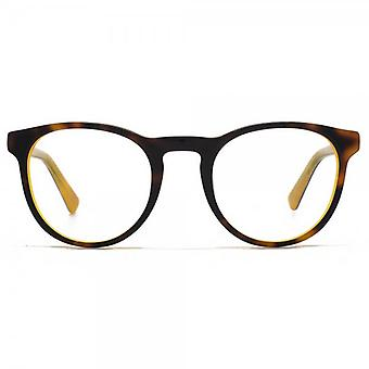 Hook LDN Parklife Glasses In Tortoiseshell On Yellow