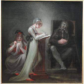 Henry Fuseli - Milton Dictating to His Daughter Poster Print Giclee