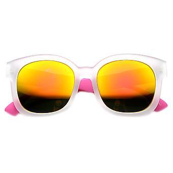 Detatchable gewapend Retro Funky kleurrijke gespiegelde zonnebrillen