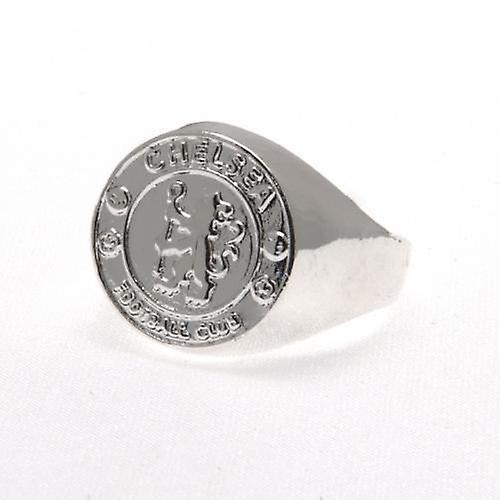 Chelsea Silver Plated Crest Ring Small