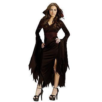 Classy Vamp Vampiress vampyr Halloween kvinnor kostym