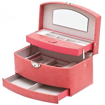 Jewelry box jewelry box jewelry box mirror in pink with travel case