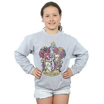 Harry Potter Girls Gryffindor Distressed Crest Sweatshirt