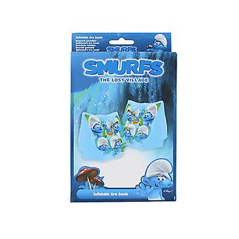 Smurfs Inflatable Swimming Arm Bands The Lost Village Swim Aid Kids Boys Girls