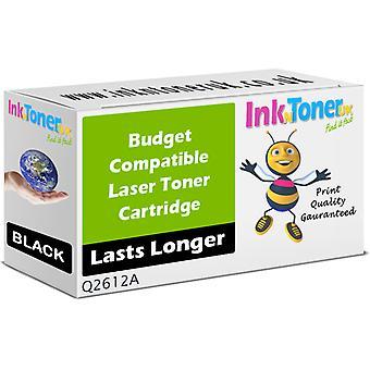 Kompatibla 12A svart Q2612A patron för HP LaserJet 3052 allt i ett
